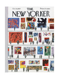 The New Yorker Cover - October 19, 1957 Premium Giclee Print by Anatol Kovarsky