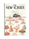 The New Yorker Cover - February 17, 1973 Giclee Print by Ronald Searle