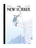 The New Yorker Cover - January 7, 2008 Giclee Print by Istvan Banyai