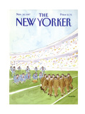 The New Yorker Cover - November 16, 1987 Giclee Print by James Stevenson