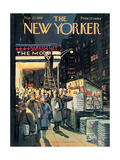 The New Yorker Cover - November 22, 1958 Reproduction procédé giclée par Arthur Getz