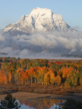 Mt. Moran on an Early Fall Morning in Grand Teton National Park Photographic Print by Drew Rush