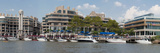 Georgetown Waterfront with Restaurants and Boats Along Potomac River Photographic Print by  Greg