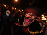 People Dressed Up for the 'Comparsa' or Day of the Dead Procession Photographic Print by Raul Touzon