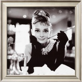Audrey Hepburn in Breakfast at Tiffany&#39;s Prints