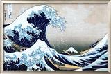 A Grande Onda em Kanagawa, da série 36 vistas do Mount Fuji, cerca de 1829 Arte por Katsushika Hokusai