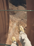 Walking over the Grand Canyon on a Glass Skywalk Photographic Print by John Burcham