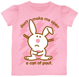 Toddler: Happy Bunny - Don't Make Me Open T-shirts