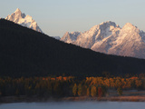 Early Morning at the Oxbow Bend in Grand Teton National Park Photographic Print by Drew Rush
