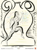 2012 Olympics-Chris Ofili-For the Unknown Runner Poster by Chris Ofili