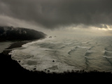 A Rare Snow Storm Approaches Del Norte Redwoods State Park Photographic Print by Michael Nichols