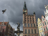 The Neptune Fountain in Gdansk's Main Thoroughfare, the Royal Way Photographic Print by Keenpress