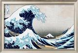 A Grande Onda em Kanagawa, da série 36 vistas do Mount Fuji, cerca de 1829 Pôsters por Katsushika Hokusai