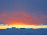 Midnight Sun at Lowest as it Sets Behind the Trans-Antarctic Mountains Photographic Print by Steve And Donna O'Meara