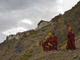 A Procession of Monks on Day 2 of the Karsha Gustor Festival Photographic Print by Steve Winter