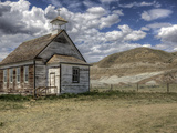 The Abandoned Catholic Church in the Alberta Badlands at Dorothy Fotografiskt tryck av Pete Ryan