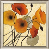 Pumpkin Poppies II Poster by Shirley Novak