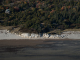 Aerial of a Rocky Maine Beach Photographic Print by Heather Perry