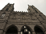 Front of the Notre Dame Basilica Building in Old Montreal Photographic Print by Stacy Gold
