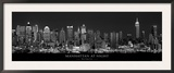 Manhattan at Night, New York City Posters by Richard Sisk