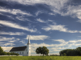 The Restored Metis Church St Antoine-De-Padoue (1883-84) at Batoche Fotografiskt tryck av Pete Ryan
