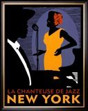 La Chanteuse de Jazz Posters by Johanna Kriesel