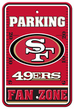 San Francisco 49ers Parking Sign Veggskilt