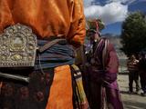 Women Walking Near Karsha Photographic Print by Steve Winter