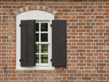 Window and Shutter of Historic Colonial Williamsburg Home Photographic Print by  Greg