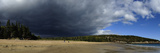Storm Clouds over Sand Beach Photographic Print by Raul Touzon