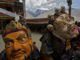 Masked Performers at the Karsha Gustor Festival Photographic Print by Steve Winter