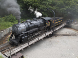 Western Maryland Scenic Railraod 2-8-0 No.734 Turning on the Turntable Photographic Print by Kent Kobersteen