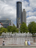 People Watching the Interactive Fountains at Centennial Olympic Park Photographic Print by Krista Rossow