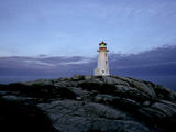 A Light House Near Peggy's Cove in Nova Scotia Photographic Print by Kenneth Ginn