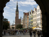 Long Market in Gdansk Seen Through Green Gate Photographic Print by  Keenpress