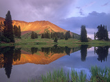 Mount Baldy at Sunset Reflected in Lake Along Paradise Divide, Colorado Photographic Print by Tim Fitzharris/Minden Pictures