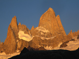 Mt Fitzroy and Poincenot at Dawn, Los Glaciares National Park, Patagonian Andes, Argentina Photographic Print by Colin Monteath/Minden Pictures