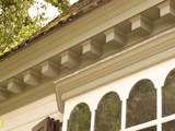 Dentil Molding on Roof Edge of Historic Colonial Williamsburg House Photographic Print by Greg
