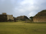 Ruins of Structures at Monte Alban Photographic Print by Raul Touzon