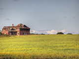 Abandoned Farmhouse in Central Saskatchewan Fotografiskt tryck av Pete Ryan