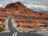 The Valley of Fire Highway Winds Towards Lake Mead, Nevada Photographic Print by Pete Ryan