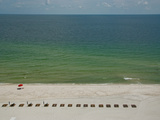A Red Umbrella on the Beach from a Condo Balcony Photographic Print by National Geographic Photographer