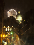 Fireworks in Old Montreal Photographic Print by Stacy Gold