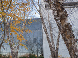 Exterior of Smithsonian Air and Space Museum in the Fall Photographic Print by  Greg
