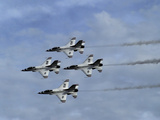 Usaf Thunderbirds Flying F-16 Fighting Falcons in Formation Photographic Print by Raul Touzon