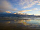 Thunderhead Clouds Reflect Pastel Hues in Wet Sand at Twilight Photographic Print by Jason Edwards