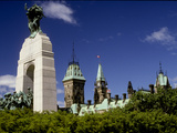 The War Memorial with the Parliament Building in the Background Photographic Print by Kenneth Ginn