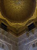 Carved Wooden Dome Inside the Alcazar Royal Palaces, Seville Fotografiskt tryck av Krista Rossow