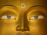 Maitreya, Close Up of Statue Head, Buddha, Tikse Monastery, Ladakh, India, Himalayas Photographic Print by Colin Monteath/Minden Pictures