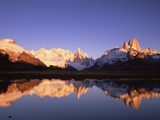 Cerro Torre and Mount Fitzroy, Cerro Solo, Famous Peaks, Los Glaciares Nat'l Park, Argentina Photographic Print by Colin Monteath/Minden Pictures